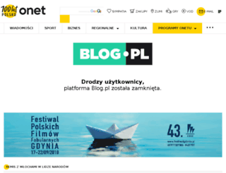 blog.pl screenshot
