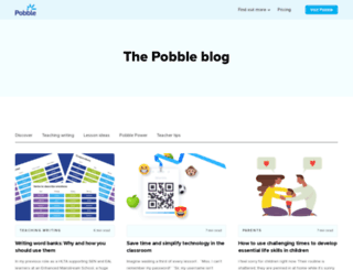 blog.pobble.com screenshot