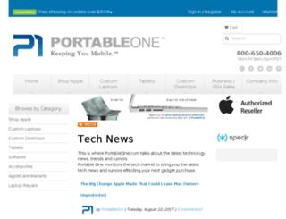 blog.portableone.com screenshot