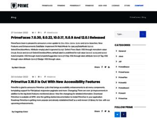 blog.primefaces.org screenshot