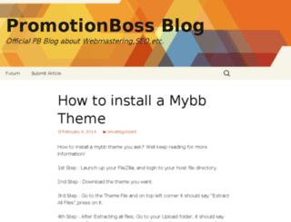 blog.promotionboss.com screenshot