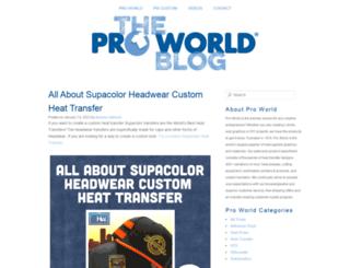 blog.proworldinc.com screenshot
