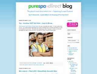 blog.purespadirect.com screenshot