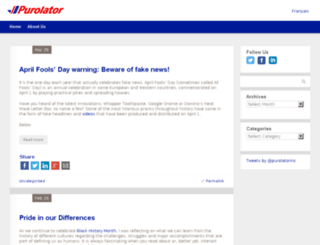 blog.purolator.com screenshot