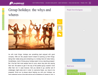 blog.purpletravel.co.uk screenshot