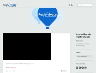 blog.pushprivate.com screenshot