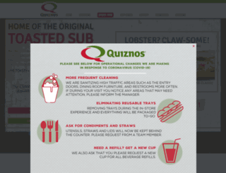 blog.quiznos.com screenshot