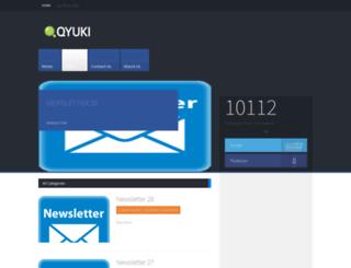 blog.qyuki.com screenshot