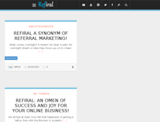 blog.refiral.com screenshot