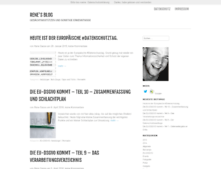 blog.renesasse.de screenshot