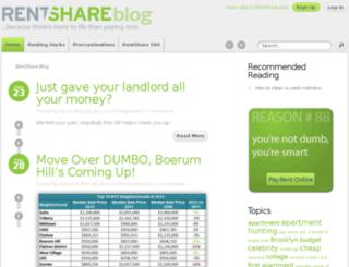 blog.rentshare.com screenshot