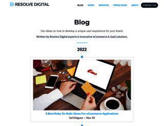 blog.resolvedigital.com screenshot