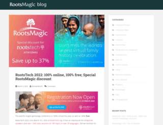 blog.rootsmagic.com screenshot