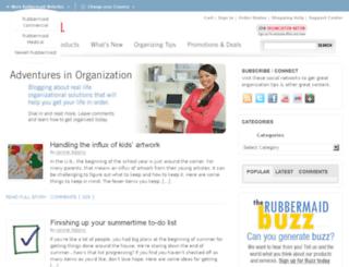 blog.rubbermaid.com screenshot