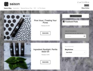 blog.saisonbeauty.com screenshot