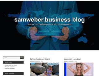 blog.samweber.biz screenshot