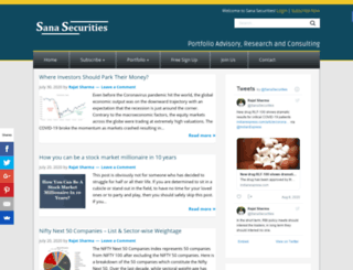 blog.sanasecurities.com screenshot