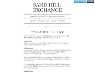 blog.sandhill.exchange screenshot