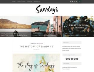 blog.sawdays.co.uk screenshot