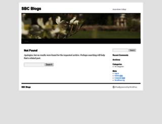 blog.sbc.edu screenshot