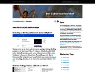 blog.schockwellenreiter.de screenshot
