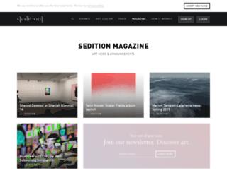 blog.seditionart.com screenshot