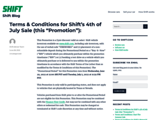 blog.shift.com screenshot