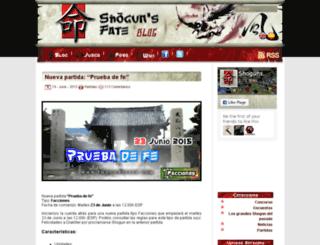 blog.shogunsfate.com screenshot