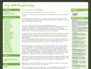 blog.shr-project.org screenshot