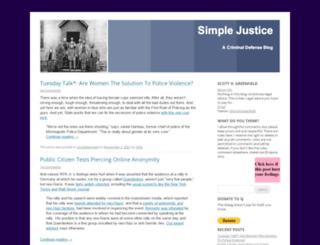 blog.simplejustice.us screenshot
