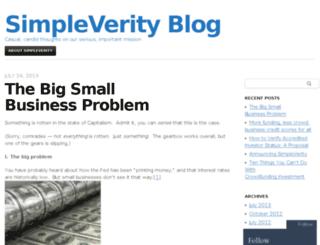 blog.simpleverity.com screenshot