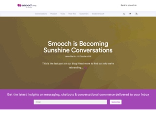 blog.smooch.io screenshot