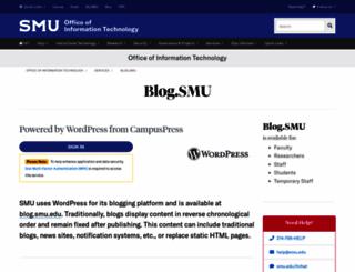blog.smu.edu screenshot