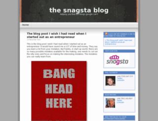 blog.snagsta.com screenshot