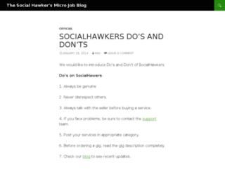 blog.socialhawkers.com screenshot