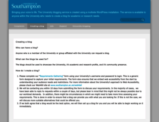 blog.soton.ac.uk screenshot