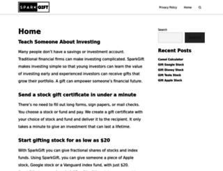 blog.sparkgift.com screenshot