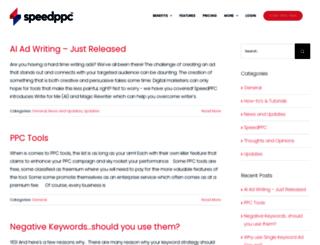 blog.speedppc.com screenshot