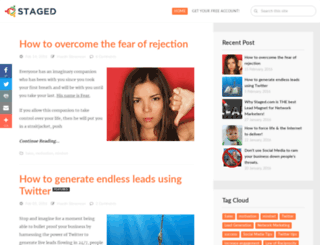 blog.staged.com screenshot