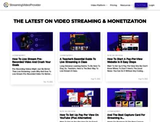blog.streamingvideoprovider.com screenshot