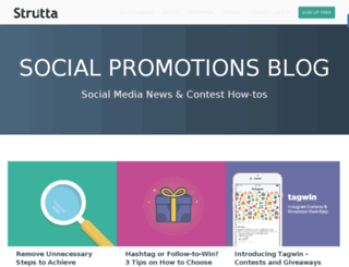 blog.strutta.com screenshot