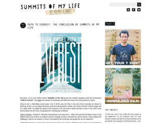 blog.summitsofmylife.com screenshot