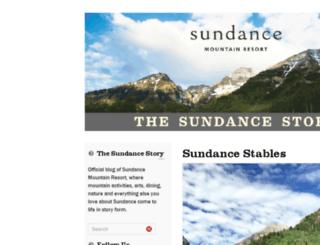 blog.sundanceresort.com screenshot