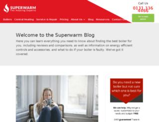 blog.superwarm.co.uk screenshot