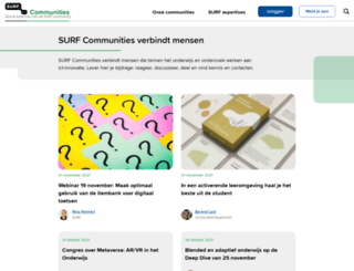 blog.surf.nl screenshot