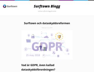 blog.surftown.se screenshot