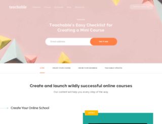 blog.teachable.com screenshot
