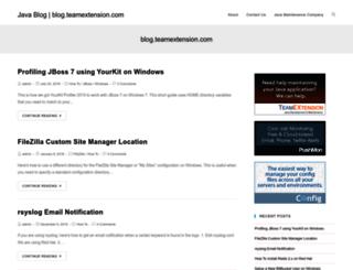 blog.teamextension.com screenshot