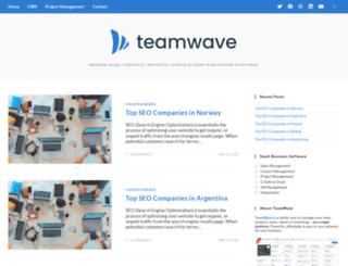 blog.teamwave.com screenshot
