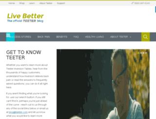 blog.teeter-inversion.com screenshot